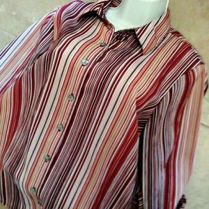 Striped Career Blouse